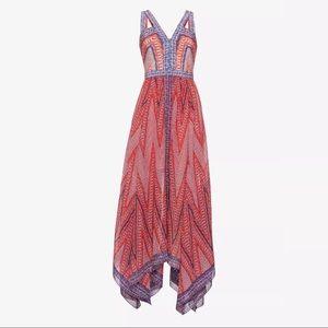 BCBGMAXAZRIA  Aba Mosaic-Print Maxi Dress Gown
